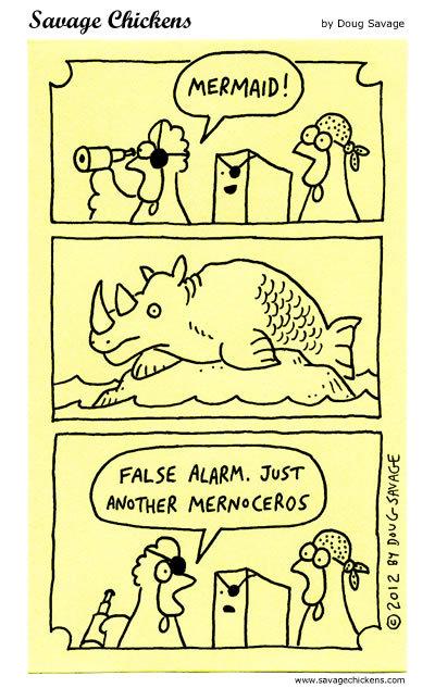 Mermaid! False alarm. Jsut another marnoceros.