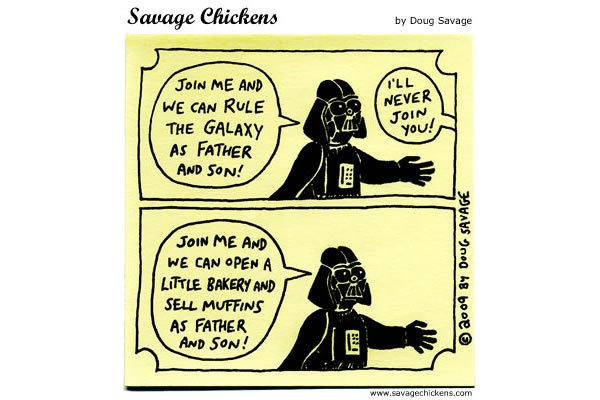 Savage Chickens for Jul 9, 2013 Comic Strip