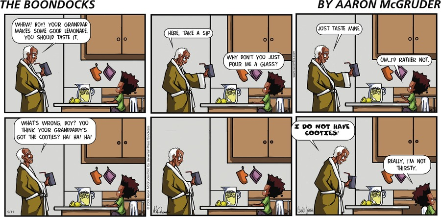 The Boondocks Comic Strip for November 22, 2020