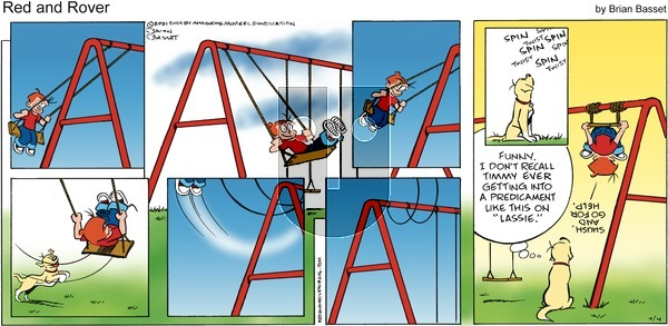 Red and Rover on Sunday July 4, 2021 Comic Strip
