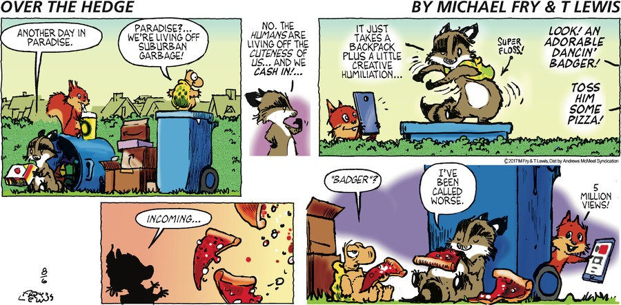 Over the Hedge Comic Strip for August 06, 2017