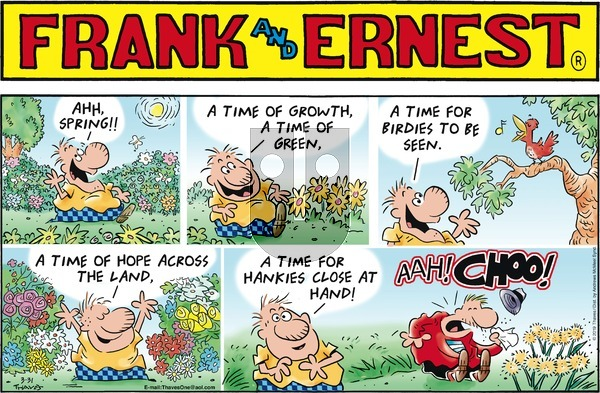 Frank and Ernest - Sunday March 31, 2019 Comic Strip