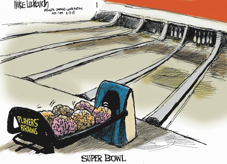 Mike Luckovich for Feb 3, 2013 Comic Strip