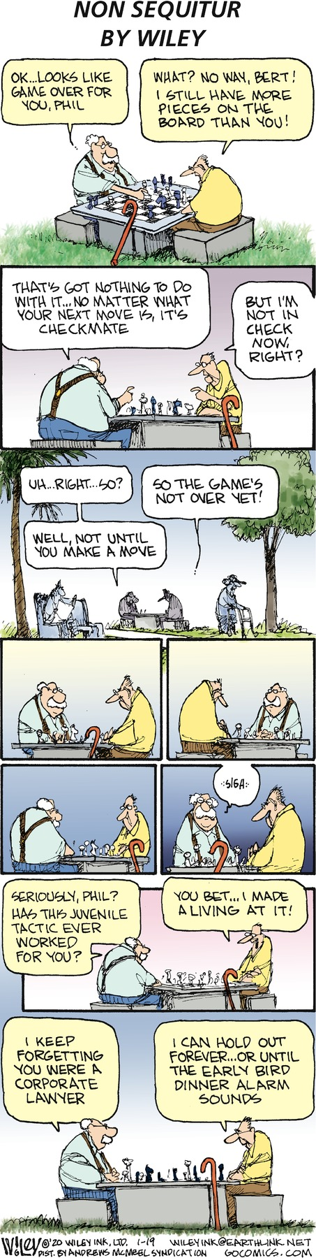 Non Sequitur Comic Strip for January 19, 2020