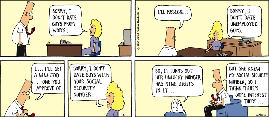 Dilbert Classics for Apr 7, 2013 Comic Strip