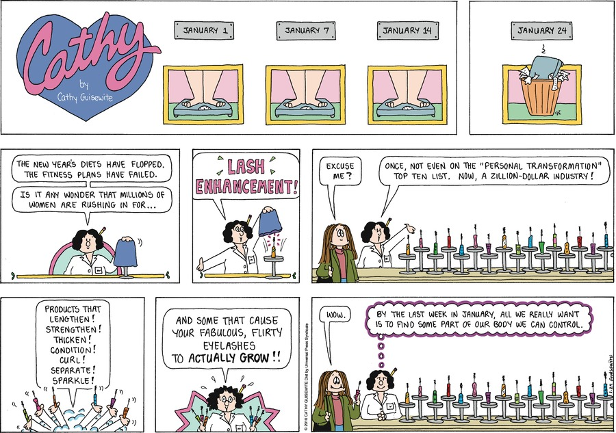 Cathy Classics Comic Strip for January 24, 2021