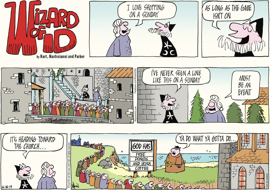 Wizard of Id Comic Strip for June 16, 2019