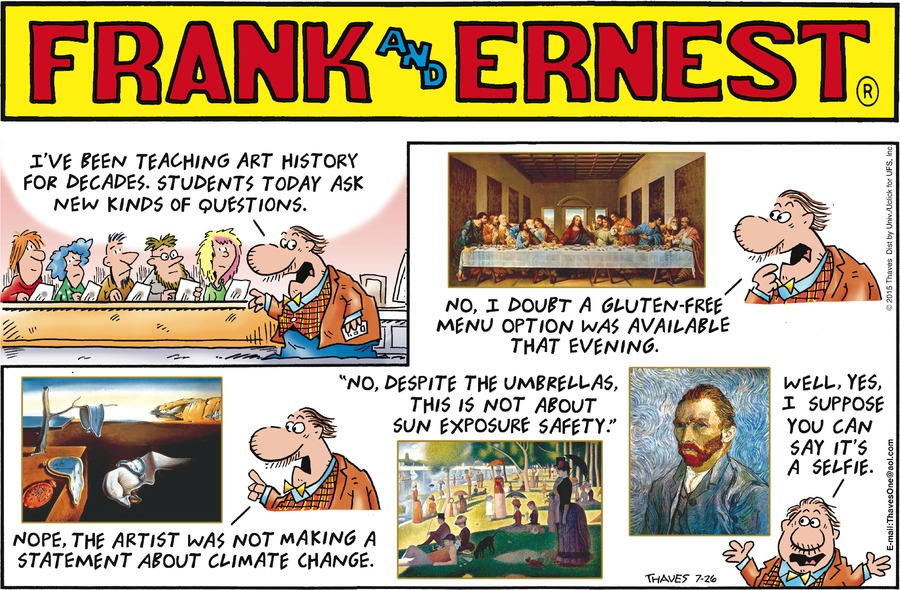 Frank and Ernest Comic Strip for July 26, 2015