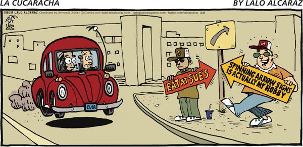 La Cucaracha Comic Strip for March 06, 2011