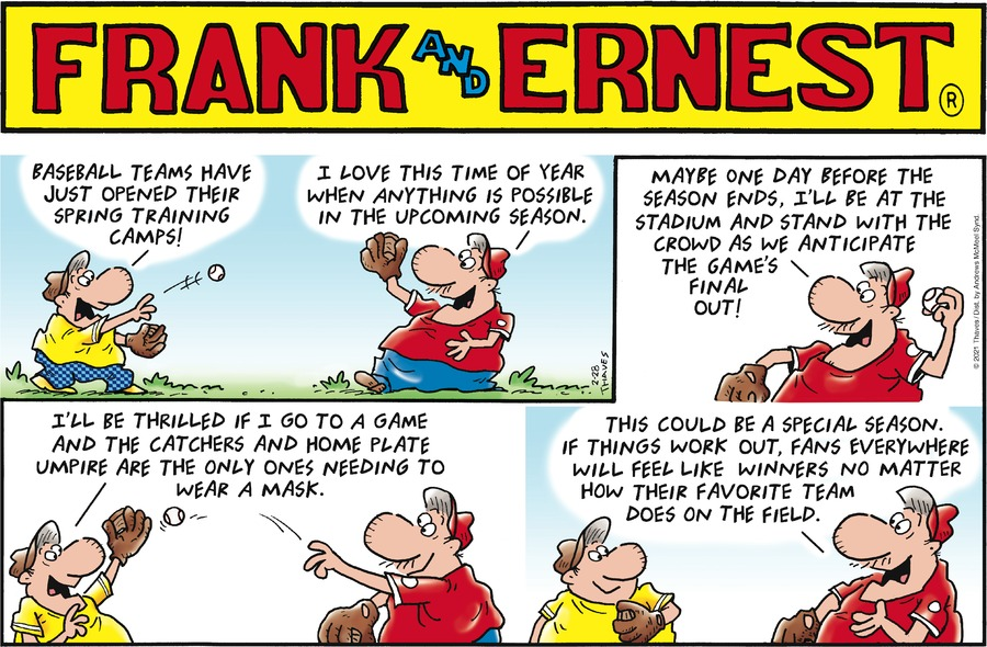 Frank and Ernest Comic Strip for February 28, 2021