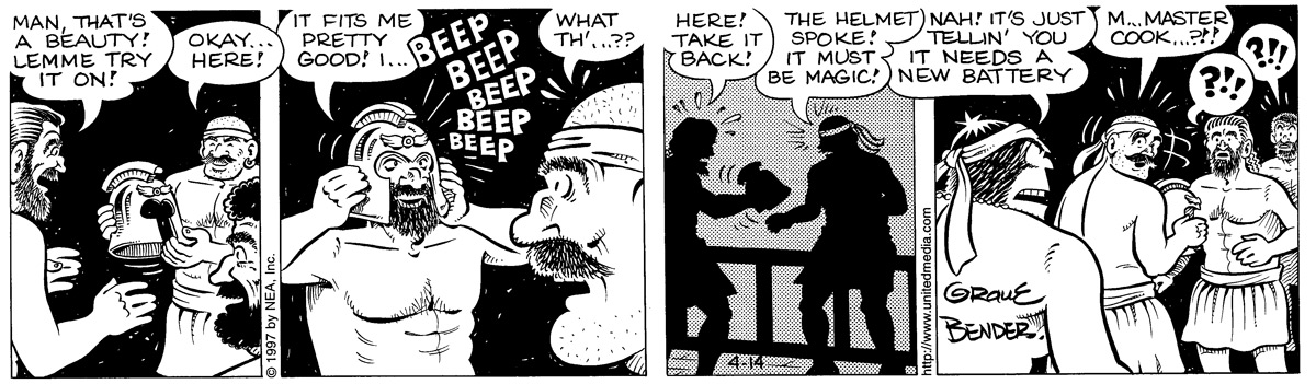 Alley Oop for Apr 14, 1997 Comic Strip