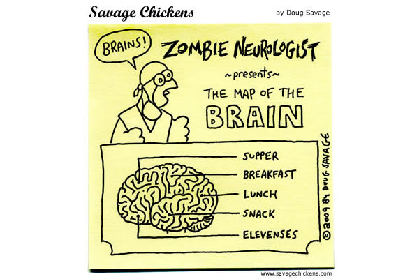 Zombie Neurologist presents: The map of the Brain. 