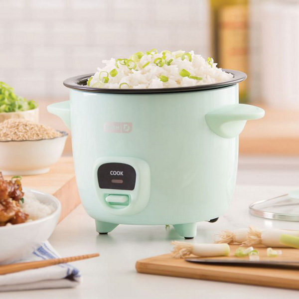 Who wouldn't love a cute, small appliance that doesn't take up a lot of space? This model from Dash comes in a dash of appetizing minty green, is graceful on its feet, and cooks a mean, soft and fluffy rice. Pair that with a makeover recipe for sesame chicken (www.bydash.com).