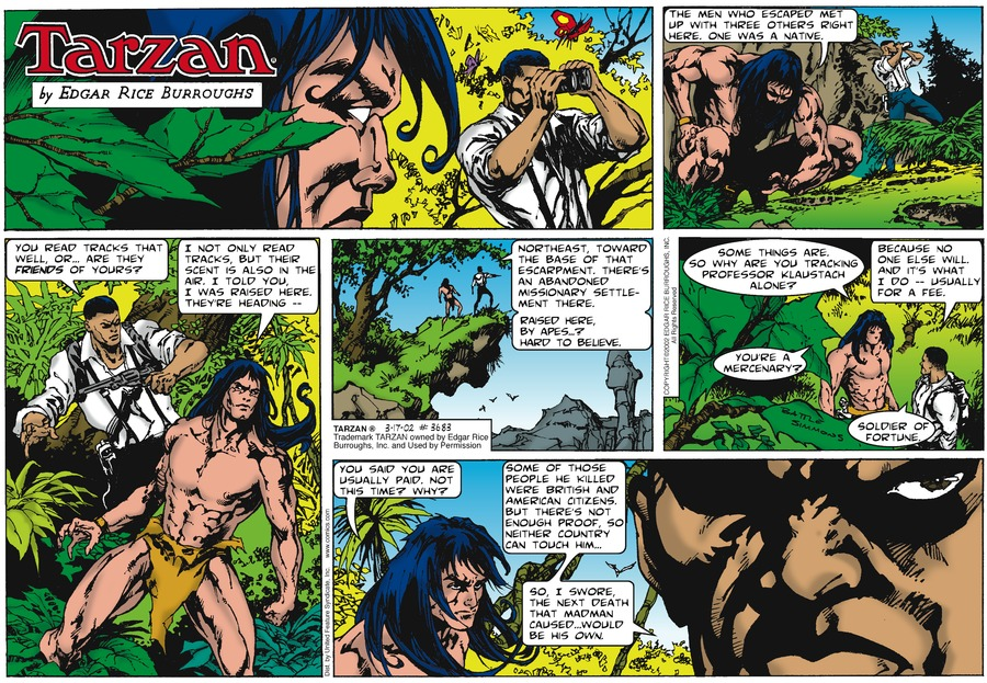 Tarzan Comic Strip for March 17, 2002