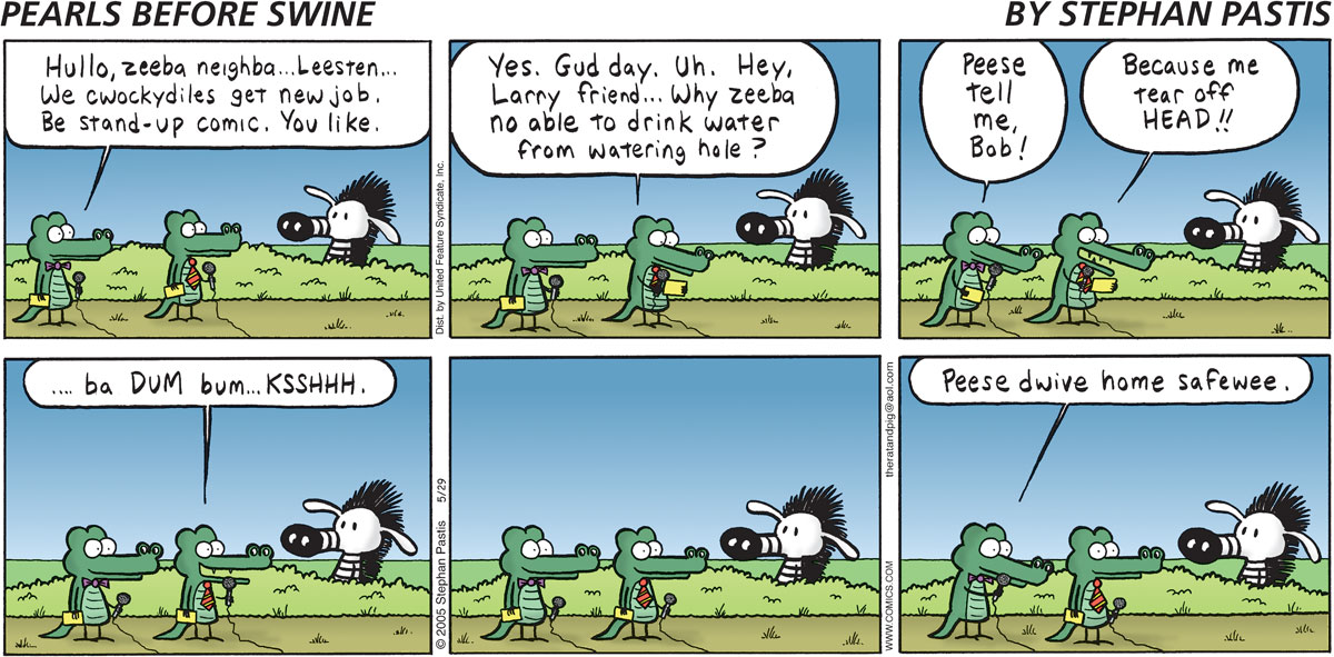 Pearls Before Swine Comic Strip for May 29, 2005