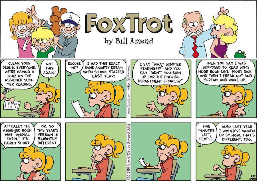 FoxTrot Comic Strip for August 25, 2013