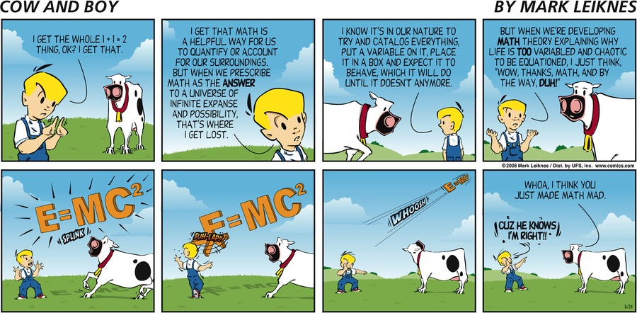 Cow and Boy Classics Comic Strip for August 24, 2008
