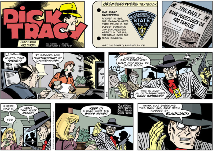 Dick Tracy Comic Strip for March 18, 2012