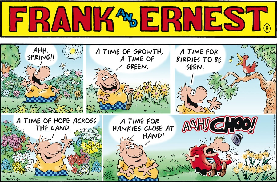 Frank and Ernest Comic Strip for March 31, 2019