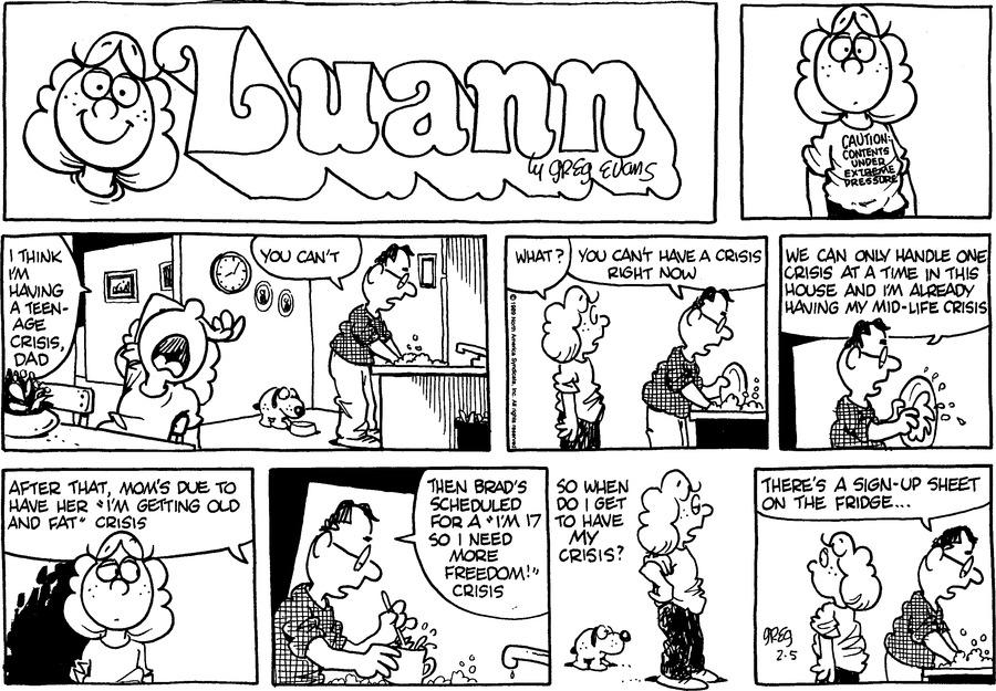 Luann Againn Comic Strip for February 05, 2017