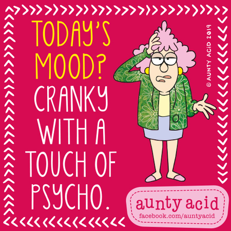 Aunty Acid by Ged Backland for August 29, 2019