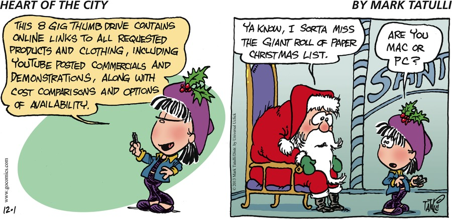 Heart of the City for Dec 1, 2013 Comic Strip
