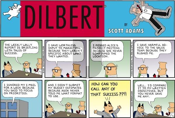 Dilbert on Sunday January 2, 2005 Comic Strip