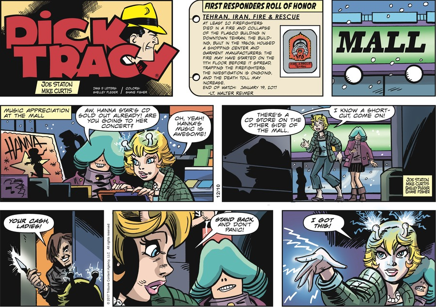 Dick Tracy Comic Strip for December 10, 2017