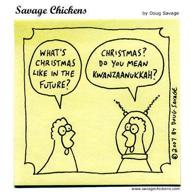 Savage Chickens Comic Strip for December 11, 2016