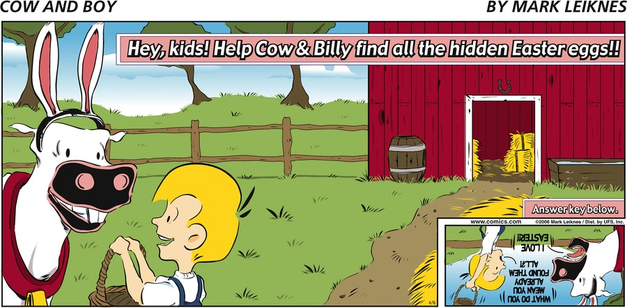 Cow and Boy Classics Comic Strip for April 16, 2006