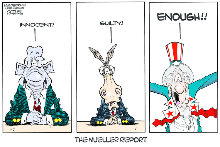 Bob Gorrell Comic Strip for April 17, 2019
