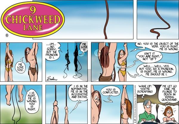 9 Chickweed Lane on Sunday April 24, 2016 Comic Strip