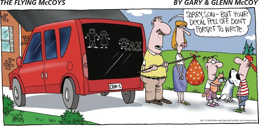 The Flying McCoys Comic Strip for September 25, 2016