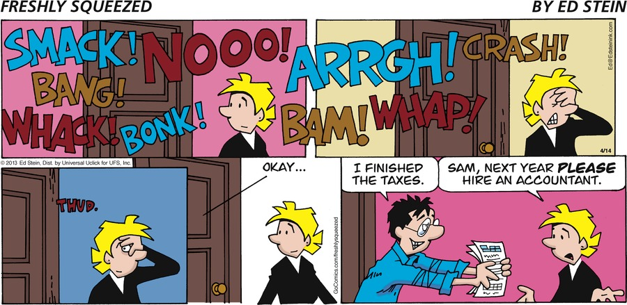 Freshly Squeezed for Apr 14, 2013 Comic Strip