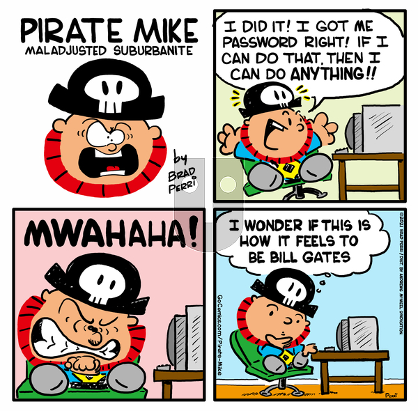 Pirate Mike on Tuesday April 6, 2021 Comic Strip