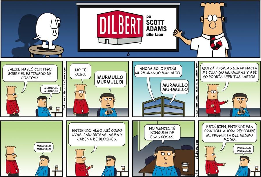 Dilbert en Español by Scott Adams for December 09, 2018