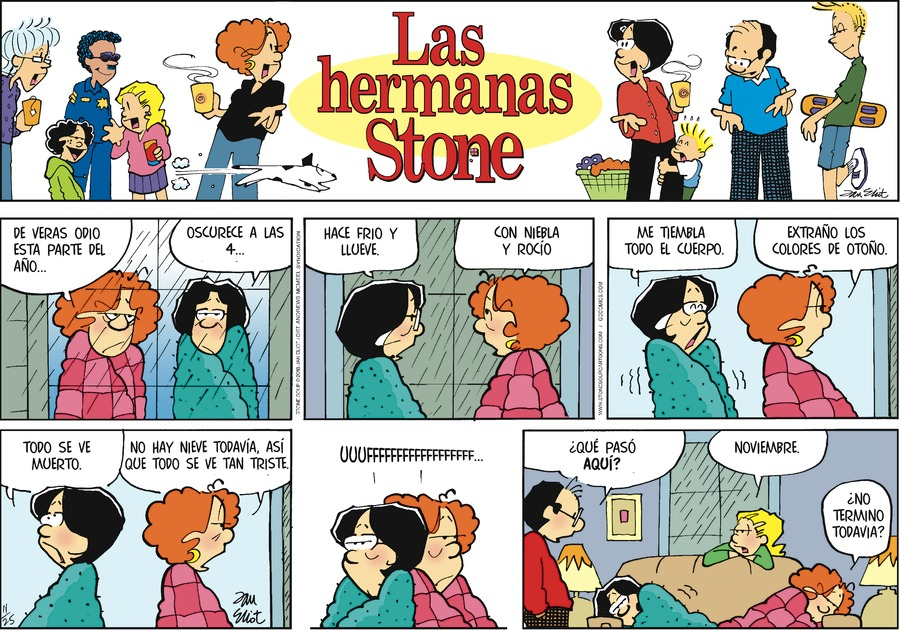 Las Hermanas Stone by Jan Eliot for November 25, 2018
