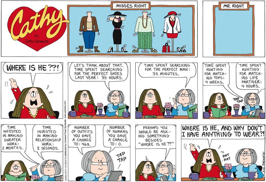 Cathy for Mar 10, 2013 Comic Strip
