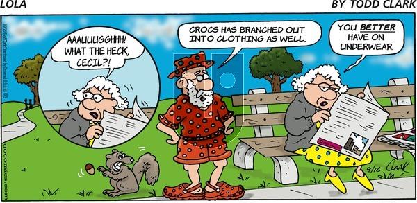 Lola on Sunday September 16, 2012 Comic Strip