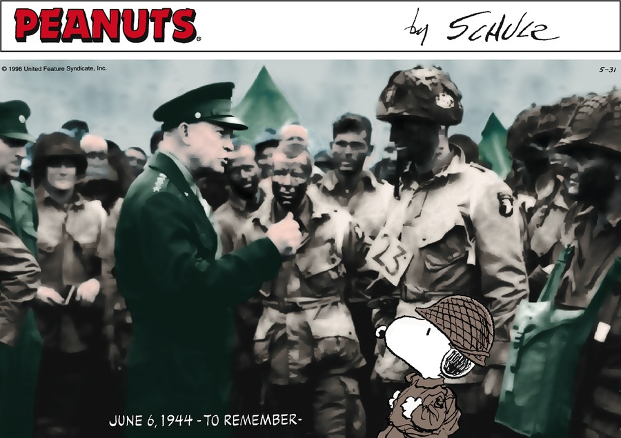 """General Dwight Eisenhower reviews the troops on D-Day."""