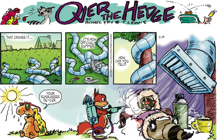 Over the Hedge Comic Strip for July 14, 2019