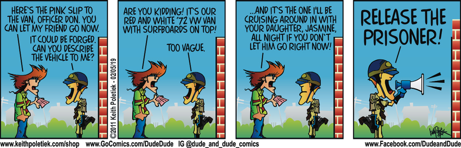 Dude and Dude Comic Strip for February 05, 2019