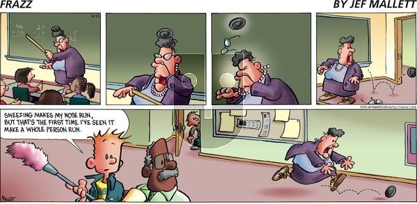 Frazz on Sunday November 11, 2012 Comic Strip