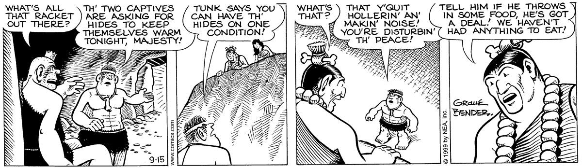 Alley Oop for Sep 15, 1999 Comic Strip