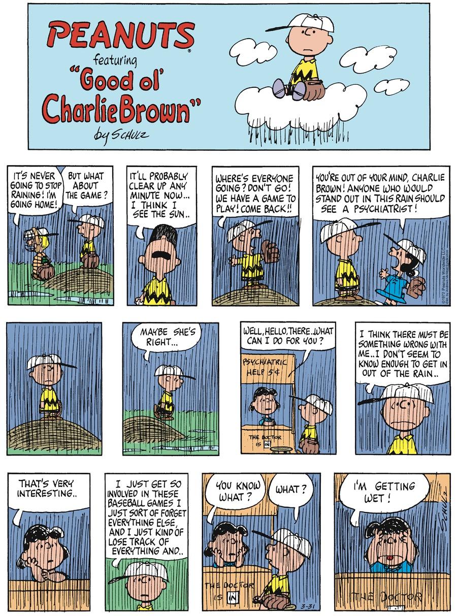 Peanuts Comic Strip for March 31, 2019