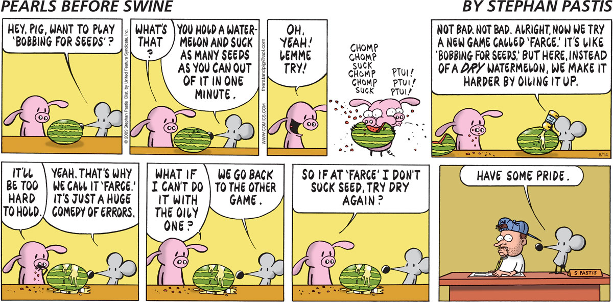 Pearls Before Swine Comic Strip for June 14, 2009