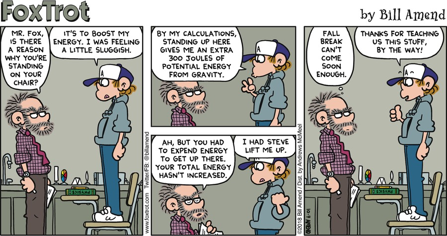 FoxTrot by Bill Amend for October 07, 2018