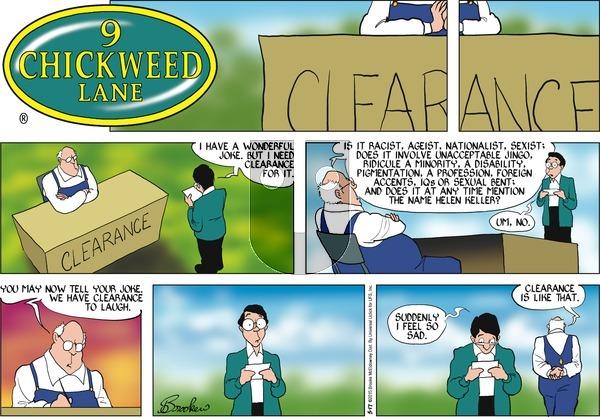 9 Chickweed Lane on Sunday May 17, 2015 Comic Strip