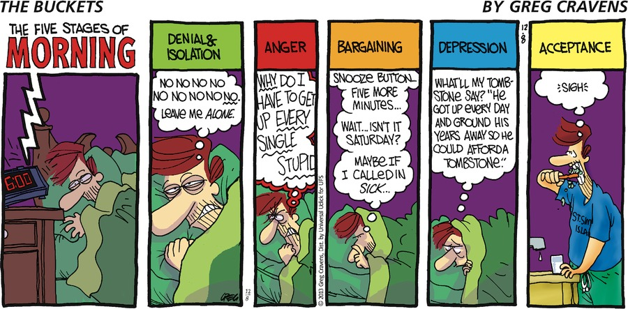 The Buckets for Dec 8, 2013 Comic Strip