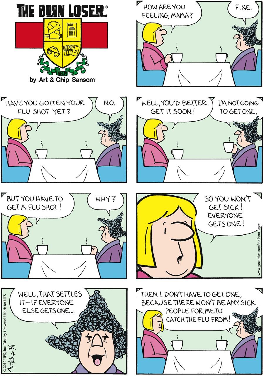 The Born Loser for Nov 4, 2012 Comic Strip